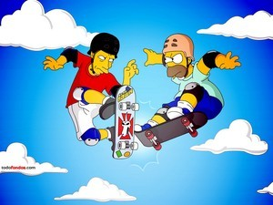 Tony Hawk and Homer Simpson