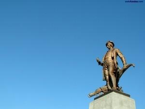 Sculpture of the poet Robert Burns