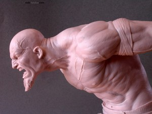 "Kratos sculpture, a character in ""God of War"""