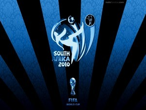 2010 World Cup in South Africa (in blue)