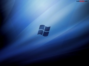 Windows Vista on a blue background
