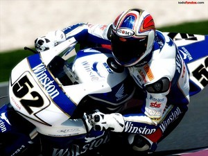 Motorcycle racer James Toseland