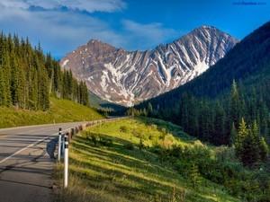 Zebra mountain (in Kananaskis, Alberta, Canada)