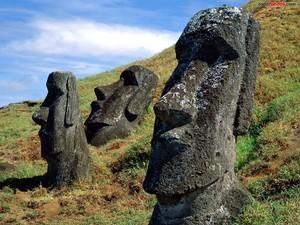Moai statues of Easter Island (Rapa Nui)