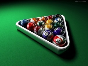Triangle pool balls