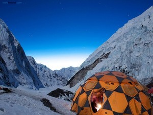 Stars on the base camp (Mount Everest)