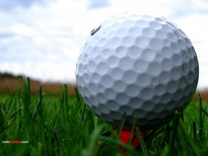 Close up of a golf ball