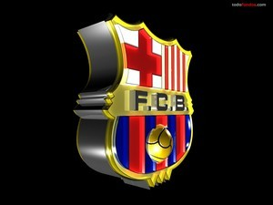 F.C. Barcelona Shield in 3D