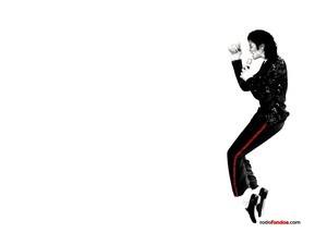 Michael Jackson on tiptoe