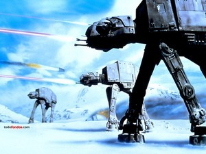 AT-AT (All Terrain Armored Transport) in combat