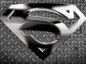 Logo metallic of Superman