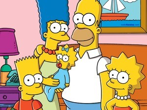 The Simpson family in your living room