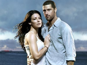 Jack Shephard (Matthew Fox) and Kate Austen (Evangeline Lily)