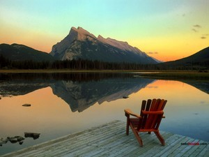 Vermilion Lake, in Banff National Park (Canada)