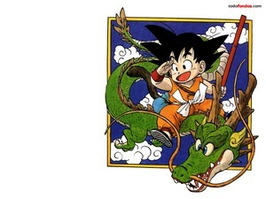 Son Goku on a dragon