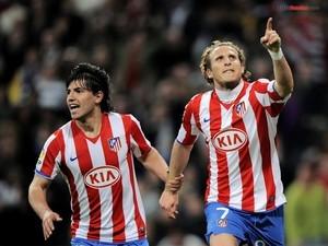 Kun Agüero and Diego Forlán (Atlético de Madrid)