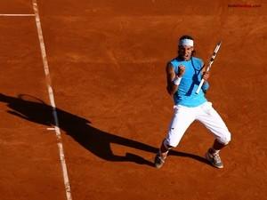 Rafa Nadal celebrating a point