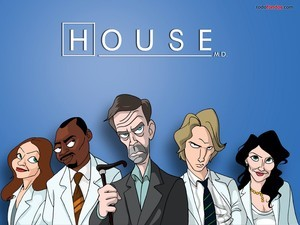 Cartoon of House M.D.