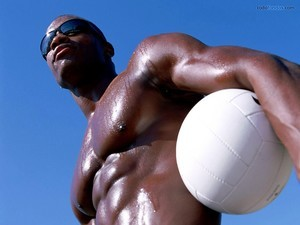 A muscular black man
