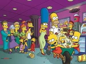 The Simpsons go to cinema