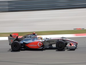 Lewis Hamilton driving for McLaren