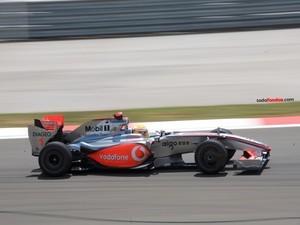 Lewis Hamilton driving for McLaren