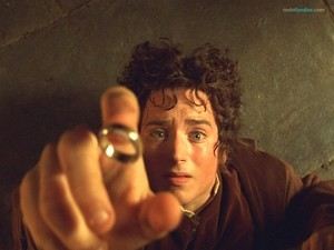Frodo Baggins (Elijah Wood) and the One Ring