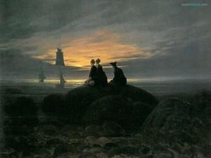 Moonrise Over the Sea (Caspar David Friedrich)
