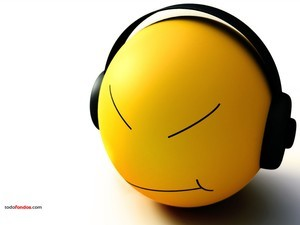 Smiley listen music