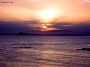 """Sunset on """"La Manga del Mar Menor"""" (Spain)"""