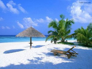 A paradise of white sand