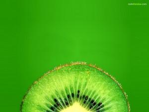 A green kiwi