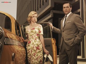 Don Draper (Jon Hamm) and Betty Draper (January Jones)