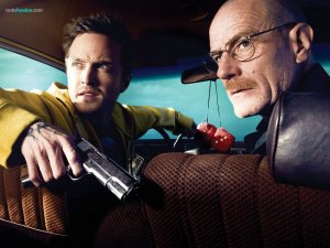 Walter White (Bryan Cranston) and Jesse Pinkman (Aaron Paul)