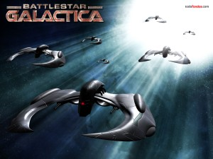 Battlestar Galactica spaceships