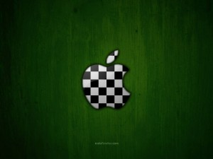 Apple logo as checkerboard