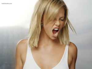 Charlize Theron, screaming