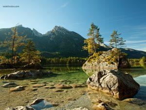 Hintersee Lake, in National Park Berchtesgaden, Bavaria (Germany)