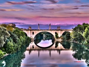 Milvio Bridge, Rome (Italy)
