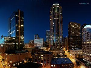 Seattle (Washington) at night