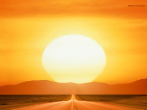 The Sun, at the end of the road
