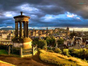 Panoramic of Edinburgh (Scotland)