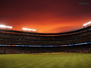 Baseball stadium of the Texas Rangers, in Arlington