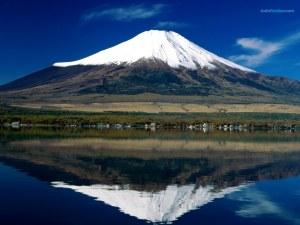 Mount Fuji reflected in Lake Kawaguchi