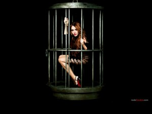 Miley Cyrus caged