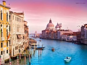 The Grand Canal of Venice (Italy)