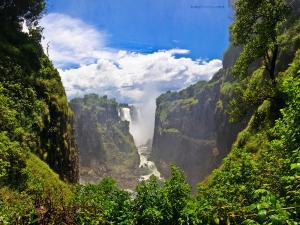 Victoria Falls, on the Zambezi River, bordering Zambia and Zimbabwe