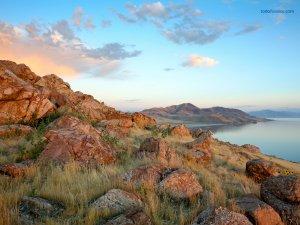 Antelope Island, in the Great Salt Lake, Utah (United States)