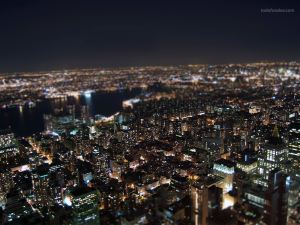 New York view from the roof of the Empire State Building
