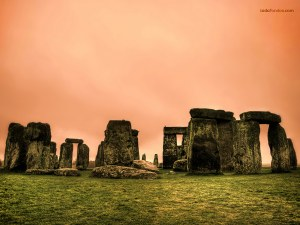 Stonehenge, megalithic monument of the Bronze Age, situated in England
